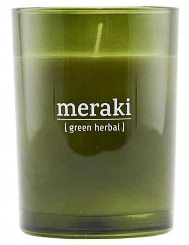 Bougie Green Herbal 220 gr - Meraki