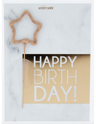 Bougie Étincelle - Happy Birthday