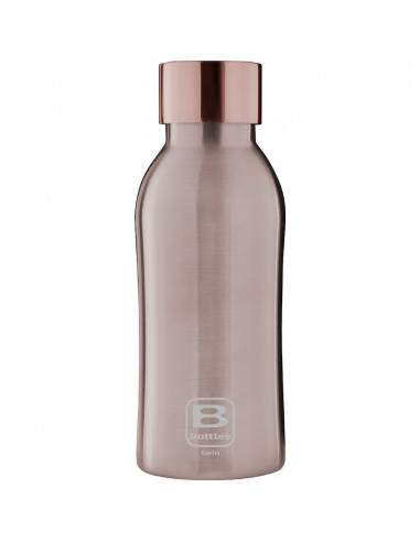 Bouteille isotherme - Or rose brossé 350ml