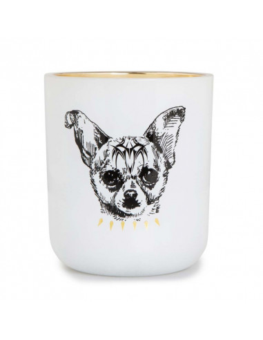 Victorian Pozzi Dog Candle