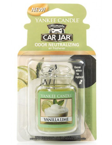 Car Jar Vanilla Lime Yankee Candle