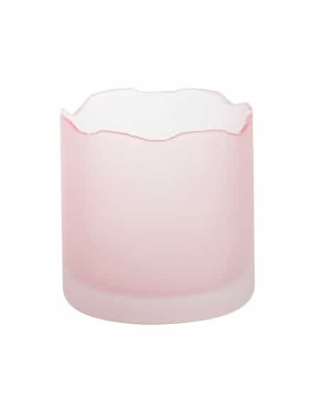 Photophore Verre Rose Tranquility