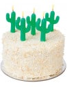 Cactus Cake Candles Set de 5