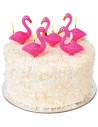 Flamingo Cake Candles Set de 5