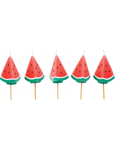 Watermelon Cake Candles - Set de 5