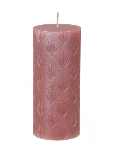 BOUGIE CYLINDRIQUE Rose 14 cm