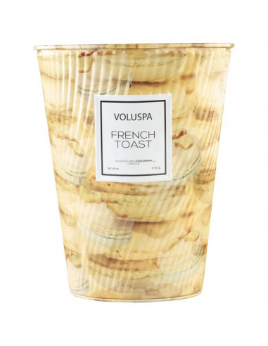 French Toast – Grande Bougie 3 Mèches