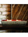 Bougie rectangulaire 2 mèches - Fireplace
